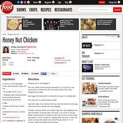 Honey Nut Chicken Recipe : Rachael Ray