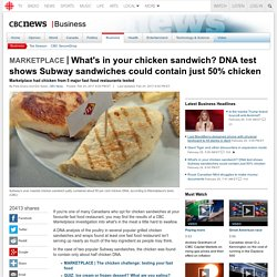What's in your chicken sandwich? DNA test shows Subway sandwiches could contain just 50% chicken