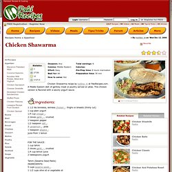 Chicken Shawarma recipe at PakiRecipes - Aurora