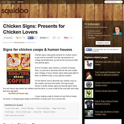 Chicken Signs: Presents for Chicken Lovers
