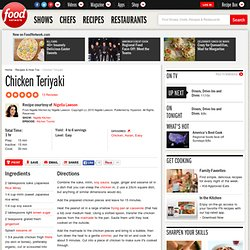 Chicken Teriyaki Recipe : Nigella Lawson