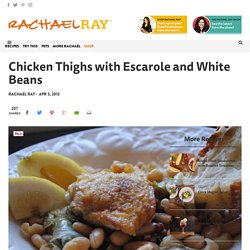 Chicken Thighs with Escarole and White Beans