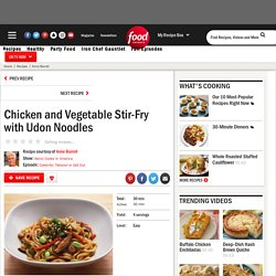 Chicken and Vegetable Stir-Fry with Udon Noodles Recipe