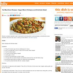 No Meat Zone Recipes: Vegan Warm Chickpea and Artichoke Salad