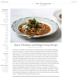 Spicy Chickpea and Bulgur Soup Recipe