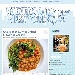 Chickpea Stew with Grilled Flowering Greens