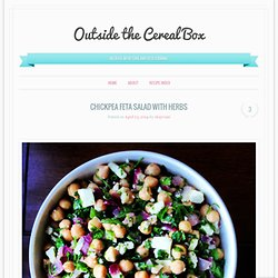 Chickpea Feta Salad with Herbs