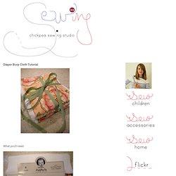 CHICKPEA SEWING STUDIO: Diaper Burp Cloth Tutorial