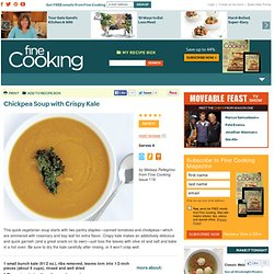 Chickpea Soup with Crispy Kale