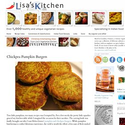 Chickpea Pumpkin Burgers