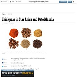 Chickpeas in Star Anise and Date Masala