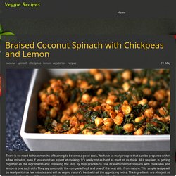 Braised Coconut Spinach with Chickpeas and Lemon Recipe