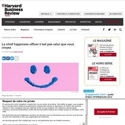 Le chief happiness officer n'est pas celui que vous croyez