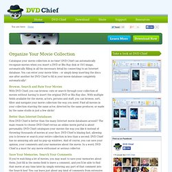 DVD Chief - DVD and Movie Organizer software