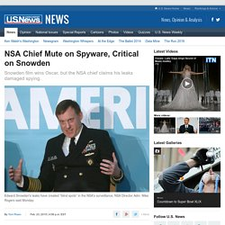 NSA Chief Mute on Spyware, Critical on Snowden