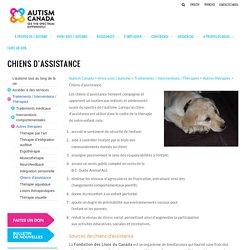 Chiens d'assistance – Autism Canada