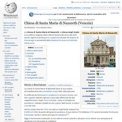 Chiesa di Santa Maria di Nazareth - Venezia (Wikipedia)