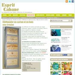 Fiche 7 : Fabriquer un Chiffonnier carton et bois
