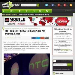 HTC : son chiffre d'affaires explose par rapport à 2014