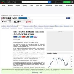 Nike : Chiffre d'affaires en hausse de 4,1%, le titre grimpe