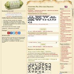 Chiffre Pig Pen - Alphabet Franc-Macon - Déchiffrer, Décoder, Encoder