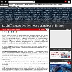 Le chiffrement des données : principes et limites