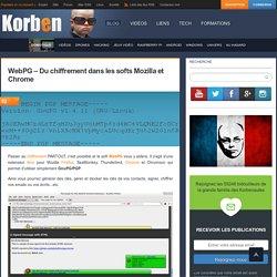 WebPG – Du chiffrement dans les softs Mozilla et Chrome