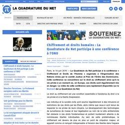 Chiffrement et droits humains : La Quadrature du Net participe à une conférence à l'ONU