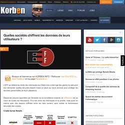 Quelles sociétés chiffrent les données de leurs utilisateurs ? « Korben Korben