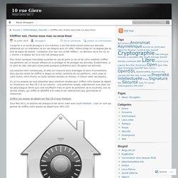 Chiffrer son /home sous mac ou sous linux