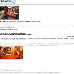 Des chiffres et des nombres, activités avec l'IPAD en école maternelle