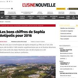 Les bons chiffres de Sophia Antipolis pour 2016 - Economie