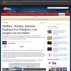 Chiffres : Firefox, Internet Explorer 8 et Windows 7 en progrès