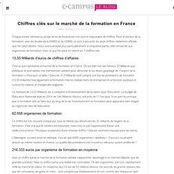 Chiffres clés sur le marché de la formation en France