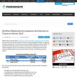 [Chiffres Médiamétrie] L'audience de l'internet en France en février 2012