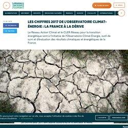 Les chiffres 2017 de l'Observatoire Climat-Énergie: la France à la dérive