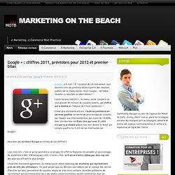 Google + : chiffres 2011, prévisions pour 2012 et premier bilan