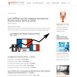Les chiffres sur les réseaux sociaux en France 2015 - 2016 (et d'Internet)