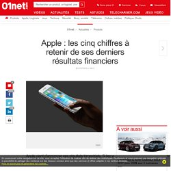 Apple : les cinq chiffres à retenir de ses derniers résultats financiers