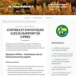 Chiffres et statistiques clés du rapport de l'IPBES