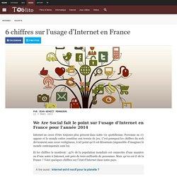 6 chiffres sur l'usage d'Internet en France