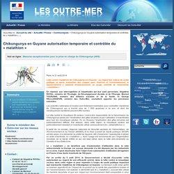 Chikungunya en Guyane autorisation temporaire et contrôlée du « malathion »