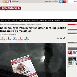 Chikungunya: trois ministres défendent l'utilisation temporaire du malathion