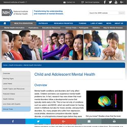 NIMH » Child and Adolescent Mental Health