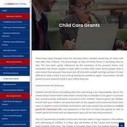 Government Child Care Grants