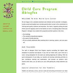 Child Care Program Abington