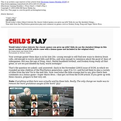 Child's Play - By Crispin Boyer and Shawn Elliott