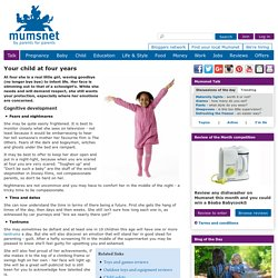 Child development calendar - your child at four years