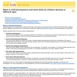How A Child Develops - Develop Skills