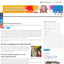 Child fostering: kinship care